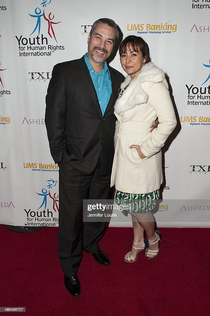 Actor Mauricio Mendoza and Yennifer Behrens attends the Youth For Human Rights International Celebrity Benefit Event hosted at the Beso on March 24, 2014 in Hollywood, California.