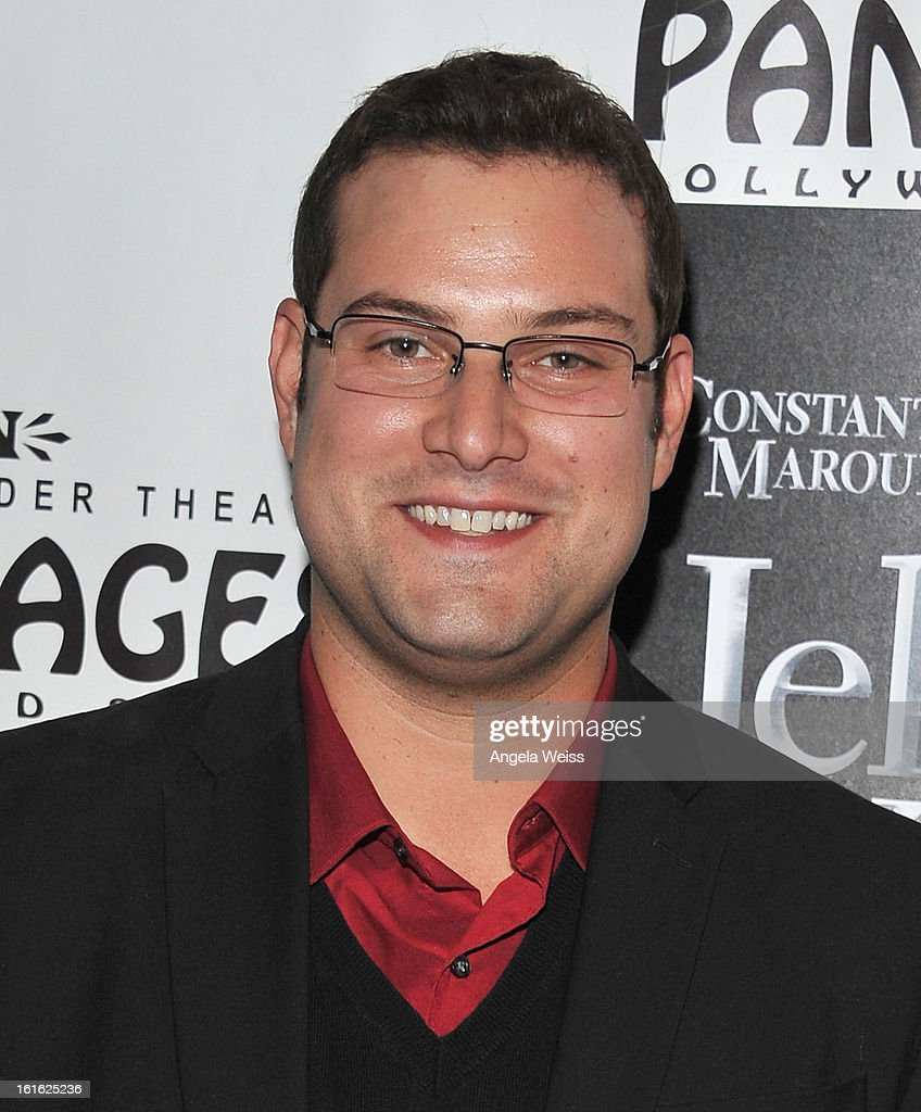 Actor Max Adler arrives at the opening night of 'Jekyll & Hyde' held at the Pantages Theatre on February 12, 2013 in Hollywood, California.