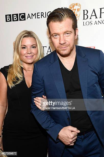 Actor Max Beesley and Jennifer Beesley attend the BBC America BAFTA Los Angeles TV Tea Party 2016 at The London Hotel on September 17 2016 in West...