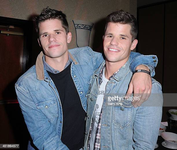 Actor Max Carver and his brother actor Charlie Carver attend the 20th Century Fox Home Entertainment and MTV Network 'Teen Wolf' fan appreciation...