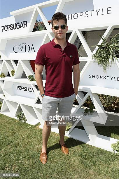 Actor Max Carver attends POPSUGAR SHOPSTYLE'S Cabana Club Pool Parties Day 1 at the Avalon Hotel on April 11 2015 in Palm Springs California