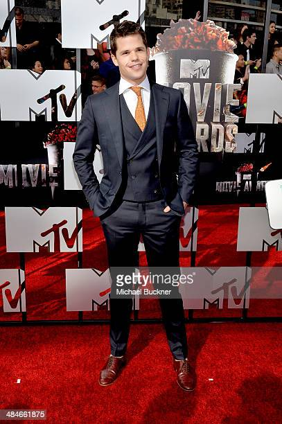 Actor Max Carver attends the 2014 MTV Movie Awards at Nokia Theatre LA Live on April 13 2014 in Los Angeles California