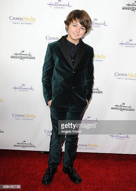Actor Max Charles arrives at Hallmark Channel's annual holiday event premiere screening of 'Northpole' at La Piazza Restaurant on November 4 2014 in...