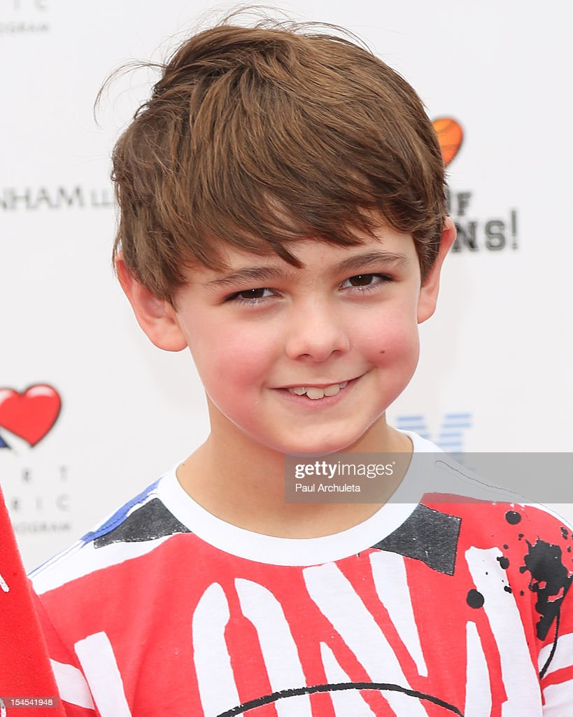 Actor Max Charles attends 'A Day Of Champions' benefiting the Bogart Pediatric Cancer Research Program at the Sports Museum of Los Angeles on October 21, 2012 in Los Angeles, California.
