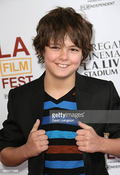 Actor Max Charles attends the 2014 Los Angeles Film Festival opening night premiere of 'Snowpiercer' at Regal Cinemas LA Live on June 11 2014 in Los...