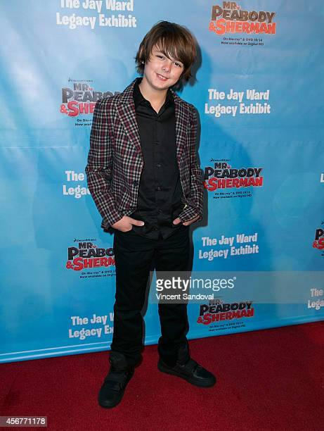 Actor Max Charles attends the DreamWorks Animation and Twentieth Century Fox Home Entertainment Present The Jay Ward Legacy exhibit at The Paley...