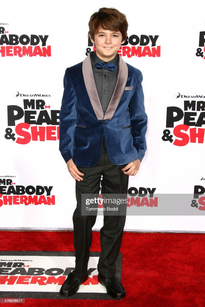 Actor <a gi-track='captionPersonalityLinkClicked' href=/galleries/search?phrase=Max+Charles&family=editorial&specificpeople=9105773 ng-click='$event.stopPropagation()'>Max Charles</a> attends the 'Mr. Peabody & Sherman' Los Angeles premiere held at the Regency Village Theatre on March 5, 2014 in Westwood, California.