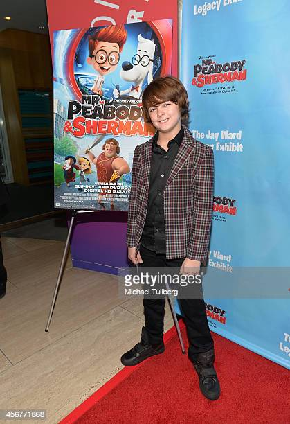 Actor Max Charles attends the opening of the Jay Ward Legacy Exhibit at The Paley Center for Media on October 6 2014 in Beverly Hills California