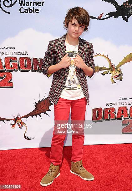 Actor Max Charles attends the premiere of 'How To Train Your Dragon 2' at Regency Village Theatre on June 8 2014 in Westwood California