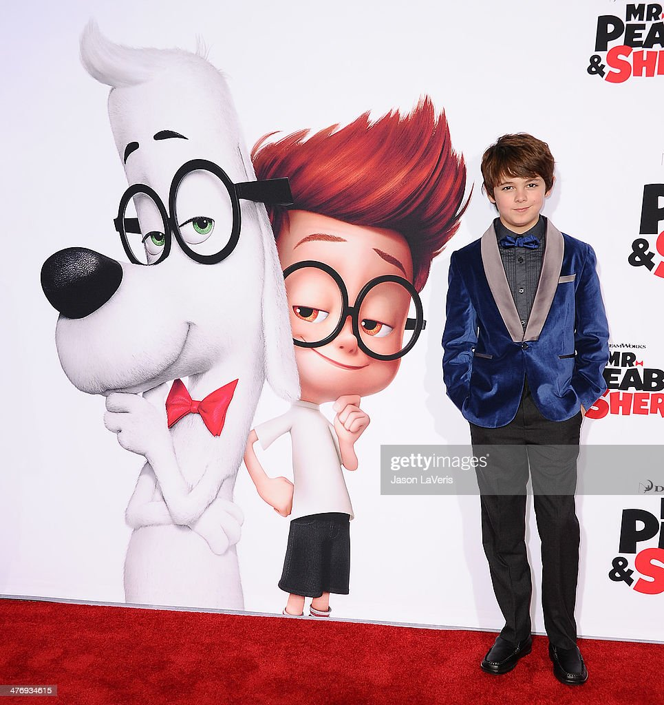 Actor <a gi-track='captionPersonalityLinkClicked' href=/galleries/search?phrase=Max+Charles&family=editorial&specificpeople=9105773 ng-click='$event.stopPropagation()'>Max Charles</a> attends the premiere of 'Mr. Peabody & Sherman' at Regency Village Theatre on March 5, 2014 in Westwood, California.