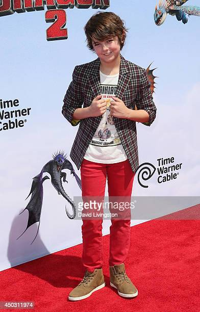 Actor Max Charles attends the premiere of Twentieth Century Fox and DreamWorks Animation 'How to Train Your Dragon 2' at the Regency Village Theatre...