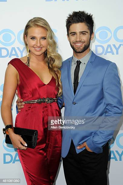 Actor Max Ehrich and Veronica Dunne attend the 41st Annual Daytime Emmy Awards CBS After Party at The Beverly Hilton Hotel on June 22 2014 in Beverly...