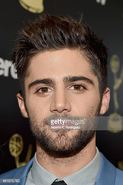 Actor Max Ehrich attends The 41st Annual Daytime Emmy Awards at The Beverly Hilton Hotel on June 22 2014 in Beverly Hills California