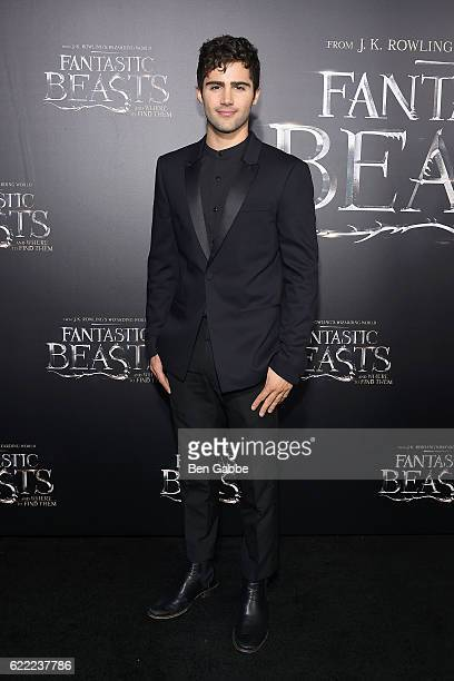 Actor Max Ehrich attends the 'Fantastic Beasts And Where To Find Them' World Premiere at Alice Tully Hall Lincoln Center on November 10 2016 in New...