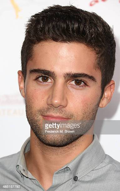 Actor Max Ehrich attends the Television Academy's Performers Peer Group Hold Cocktail Reception to Celebrate the 67th Emmy Awards at the Montage...