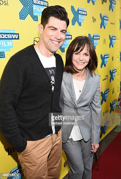 Actor Max Greenfield and actress Sally Field arrives at the premiere of 'Hello My Name Is Doris' during the 2015 SXSW Music FIlm Interactive Festival...