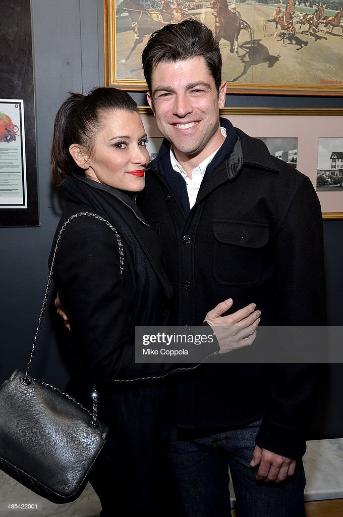 Actor <a gi-track='captionPersonalityLinkClicked' href=/galleries/search?phrase=Max+Greenfield&family=editorial&specificpeople=599135 ng-click='$event.stopPropagation()'>Max Greenfield</a> (L) and <a gi-track='captionPersonalityLinkClicked' href=/galleries/search?phrase=Tess+Sanchez&family=editorial&specificpeople=5497635 ng-click='$event.stopPropagation()'>Tess Sanchez</a> attend the 'About Alex' Premiere after party during the 2014 Tribeca Film Festival at Kutsher's Tribeca on April 17, 2014 in New York City.