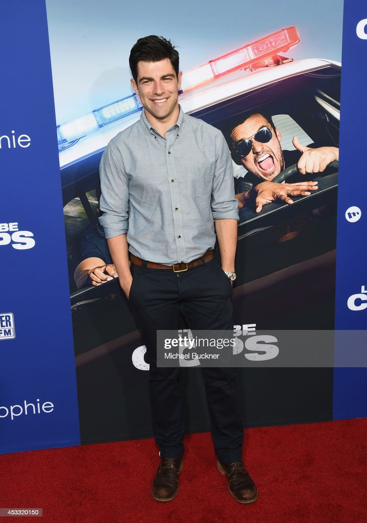 Actor <a gi-track='captionPersonalityLinkClicked' href=/galleries/search?phrase=Max+Greenfield&family=editorial&specificpeople=599135 ng-click='$event.stopPropagation()'>Max Greenfield</a> arrives at the premiere of Twentieth Century Fox's 'Let's Be Cops' at ArcLight Hollywood on August 7, 2014 in Hollywood, California.