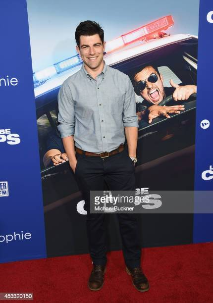 Actor Max Greenfield arrives at the premiere of Twentieth Century Fox's 'Let's Be Cops' at ArcLight Hollywood on August 7 2014 in Hollywood California