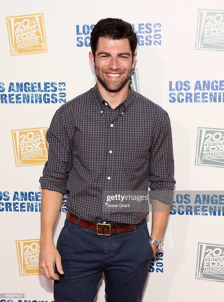 Actor <a gi-track='captionPersonalityLinkClicked' href=/galleries/search?phrase=Max+Greenfield&family=editorial&specificpeople=599135 ng-click='$event.stopPropagation()'>Max Greenfield</a> attends Twentieth Century Fox Television Distribution's 2013 LA Screenings Lot Party at Twentieth Century Fox Studio Lot on May 23, 2013 in Los Angeles, California.
