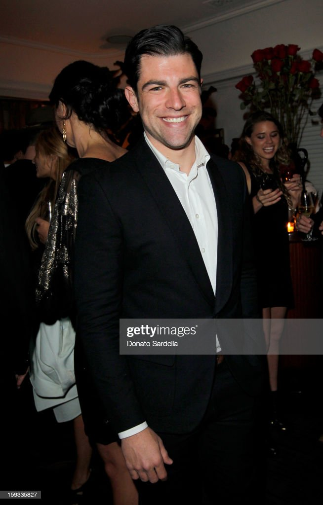 """Actor <a gi-track='captionPersonalityLinkClicked' href=/galleries/search?phrase=Max+Greenfield&family=editorial&specificpeople=599135 ng-click='$event.stopPropagation()'>Max Greenfield</a> attends W Magazine's 'Best Performances Issue"""" and the Golden Globe Awards celebration with W Magazine, Cadillac and Dom Pérignon at Chateau Marmont on January 11, 2013 in Los Angeles, California."""
