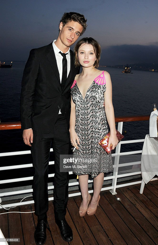 Actor Max Irons (L) and Emily Browning attend the 3rd Annual Finch's Quarterly Review Filmmakers Dinner honoring Oscar-winning British film producer Jeremy Thomas and sponsored by Tod's and the IWC at Hotel du Cap-Eden-Roc on May 14, 2011 in Cannes, France.