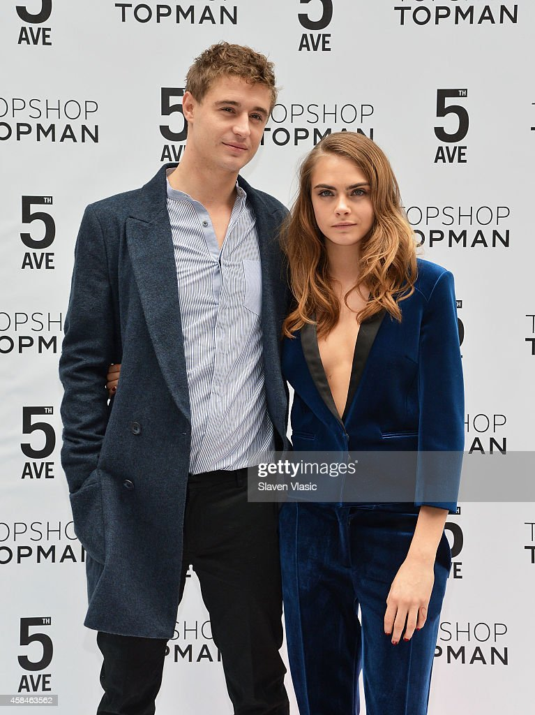 Actor Max Irons and model Cara Delevingne attend the Topshop Topman New York City flagship grand opening at Topshop Topman Flagship Store on November 5, 2014 in New York City.