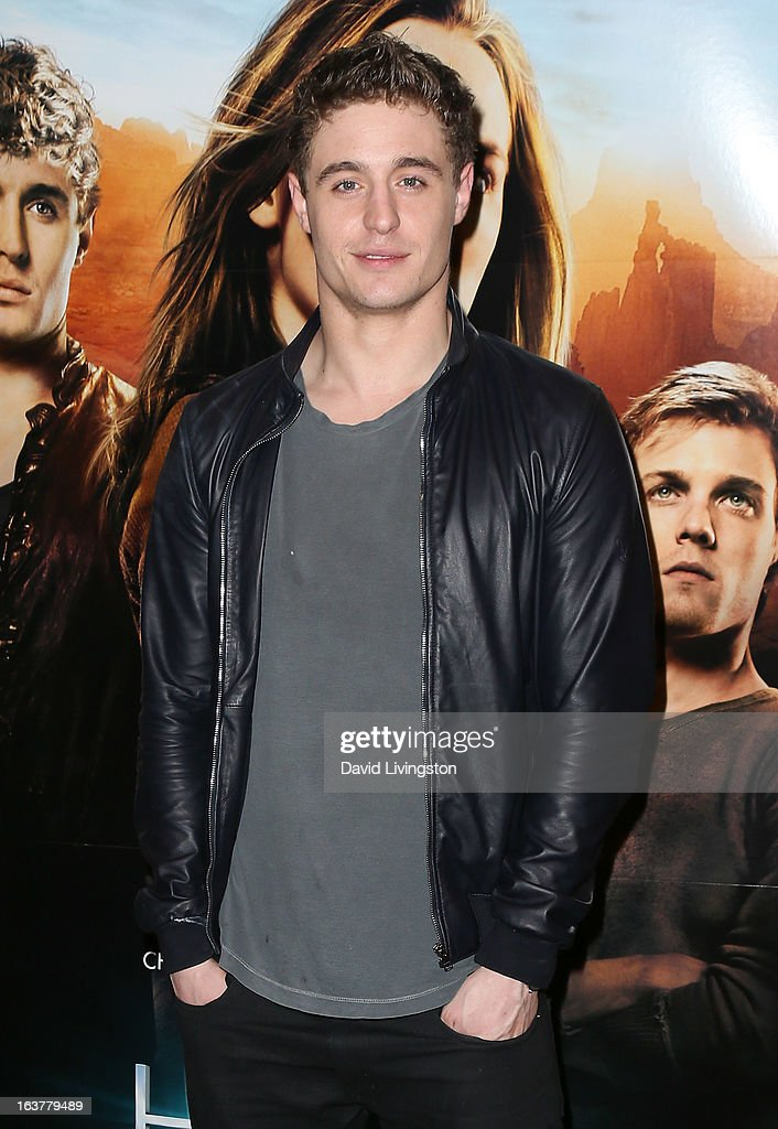 Actor Max Irons attends a signing for Stephenie Meyer's book 'The Host' at Barnes & Noble bookstore at The Grove on March 15, 2013 in Los Angeles, California.