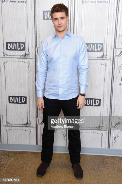 Actor Max Irons attends Build Series presents Max Irons Samantha Barks and Tamer Hassan discussing 'Bitter Harvest' at Build Studio on February 16...