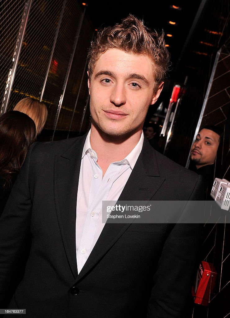 Actor Max Irons attends the after party for a screening of 'The Host' hosted by The Cinema Society & Jaeger-LeCoultre at Jimmy At The James Hotel on March 27, 2013 in New York City.