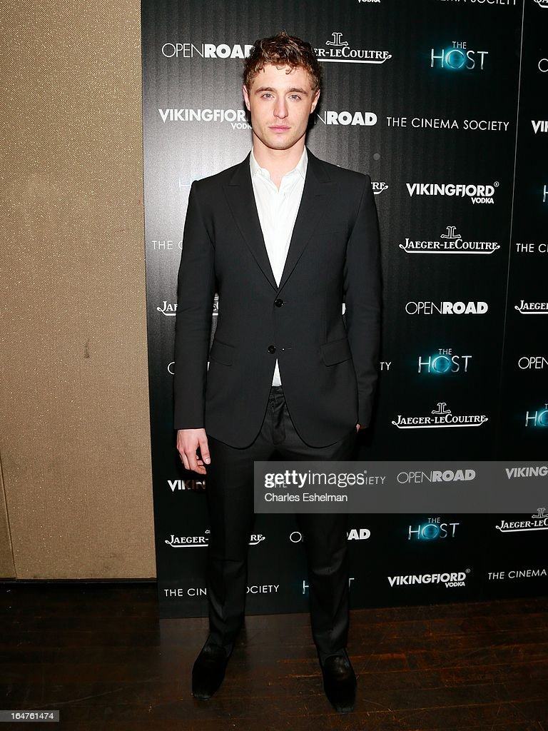 Actor Max Irons attends The Cinema Society & Jaeger-LeCoultre Host A Screening Of Open Road Films' 'The Host' at the Tribeca Grand Hotel - Screening Room on March 27, 2013 in New York City.