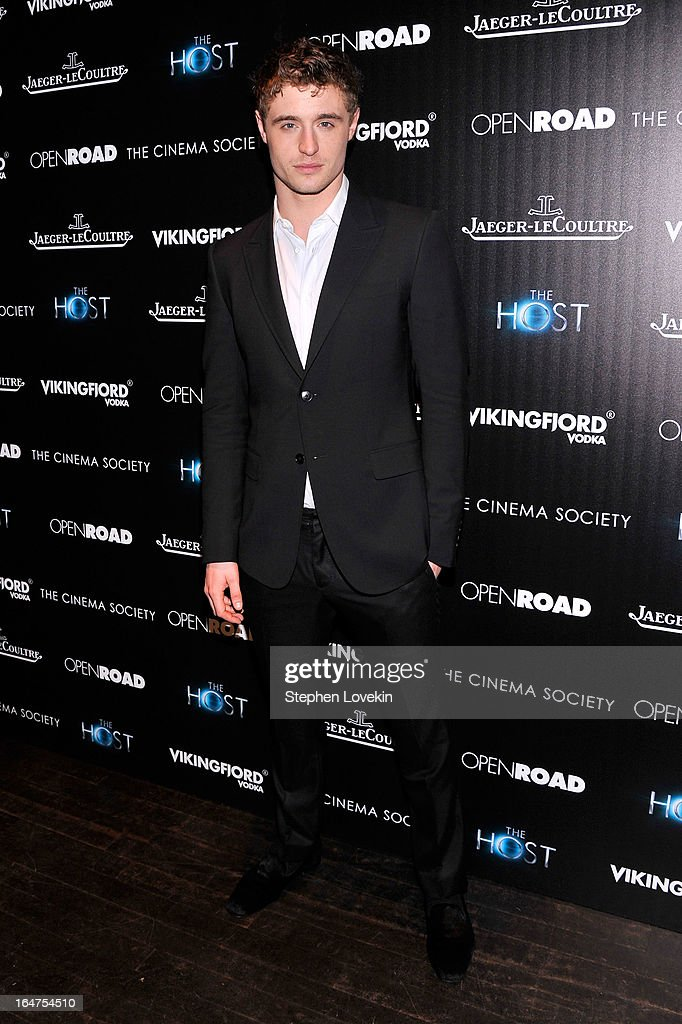 Actor Max Irons attends The Cinema Society & Jaeger-LeCoultre Hosts A Screening Of 'The Host' at Tribeca Grand Hotel on March 27, 2013 in New York City.