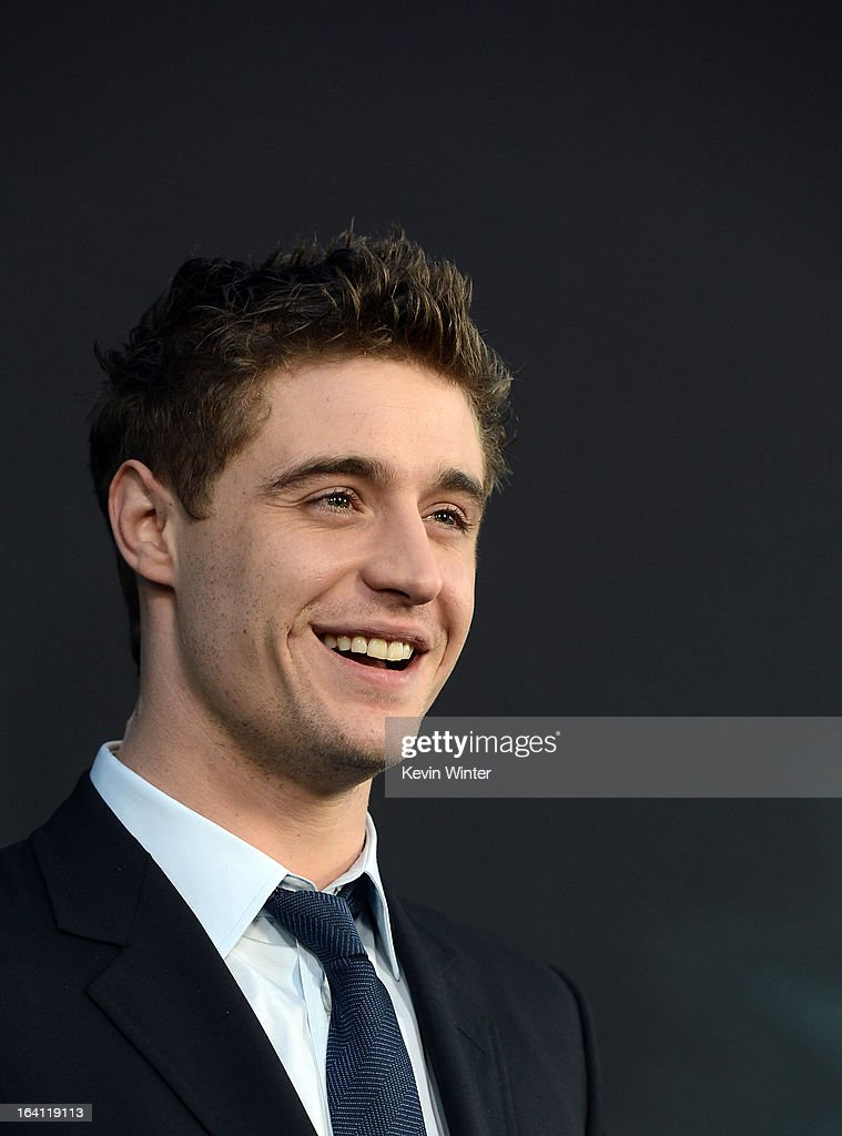 Actor Max Irons attends the premiere of Open Road Films 'The Host' at ArcLight Cinemas Cinerama Dome on March 19, 2013 in Hollywood, California.