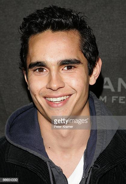 Actor Max Minghella arrives at the premiere of 'Art School Confidential' at the Eccles Theatre during the 2006 Sundance Film Festival on January 23...