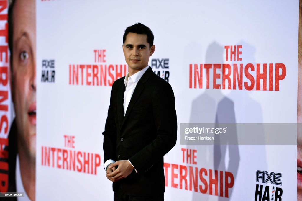 Actor <a gi-track='captionPersonalityLinkClicked' href=/galleries/search?phrase=Max+Minghella&family=editorial&specificpeople=777019 ng-click='$event.stopPropagation()'>Max Minghella</a> arrives at the Premiere Of Twentieth Century Fox's 'The Internship' on May 29, 2013 in Westwood, California.