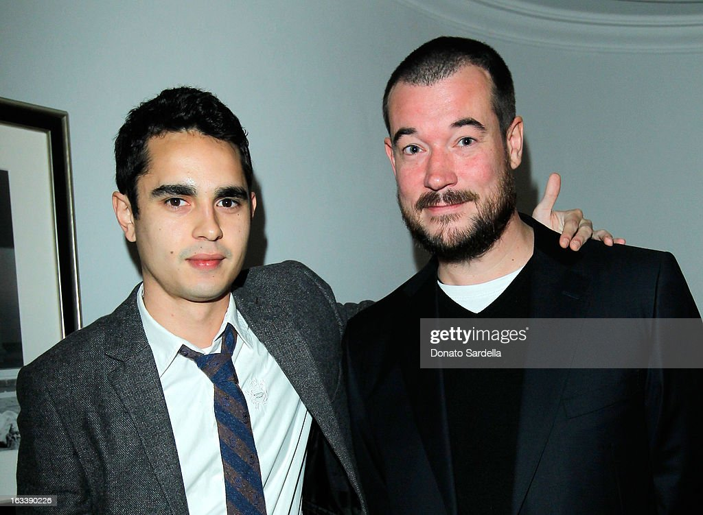Actor Max Minghella producer Tim Brincknell attend Joe Fresh private dinner hosted by Joe Mimran and Kate Mara at The Chateau Marmont on March 8, 2013 in Los Angeles, California.