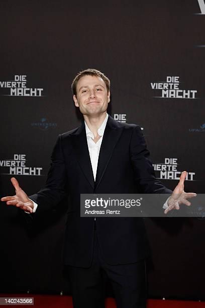 Actor Max Riemelt attends 'Die Vierte Macht' World Premiere at CineStar on March 1 2012 in Berlin Germany