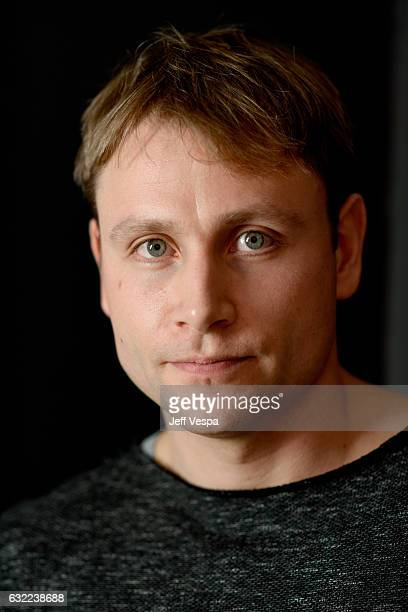 Actor Max Riemelt from the film 'Berlin Syndrome' poses for a portrait in the WireImage Portrait Studio presented by DIRECTV during the 2017 Sundance...