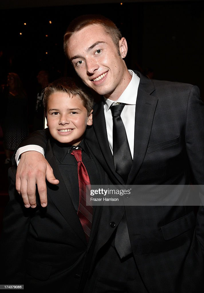 Actor Max Rutherford (L) and Ty Rutherford attend the after party for the premiere of 'Blue Jasmine' hosted by AFI & Sony Picture Classics at AMPAS Samuel Goldwyn Theater on July 24, 2013 in Beverly Hills, California.