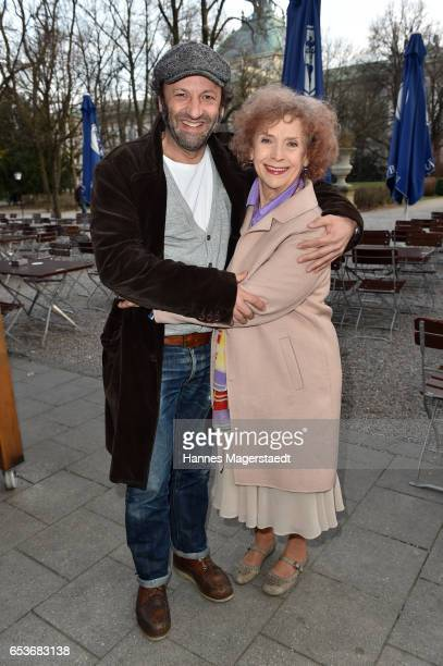 Actor Max Schmidt and Ilse Neubauer during the NdF after work press cocktail at Parkcafe on March 15 2017 in Munich Germany