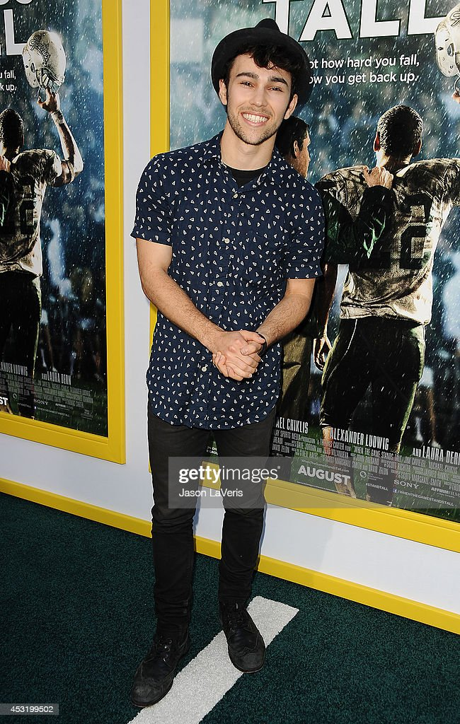 Actor Max Schneider attends the premiere of 'When The Game Stands Tall' at ArcLight Hollywood on August 4 2014 in Hollywood California