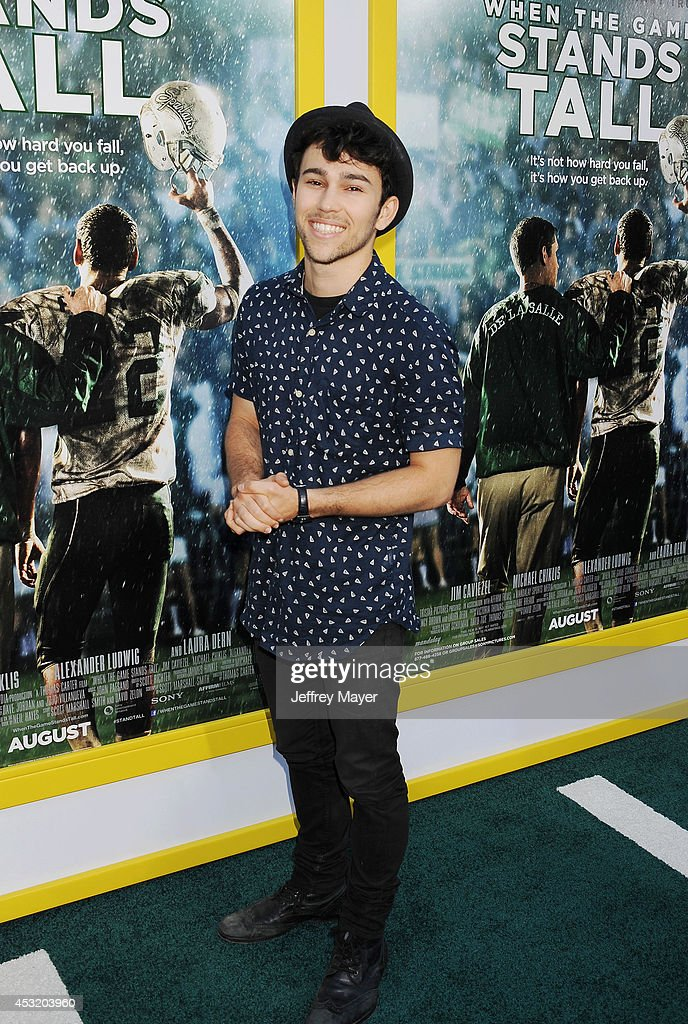 Actor Max Schneider attends the 'When The Game Stands Tall' Los Angeles premiere held at the ArcLight Hollywood on August 4 2014 in Hollywood...