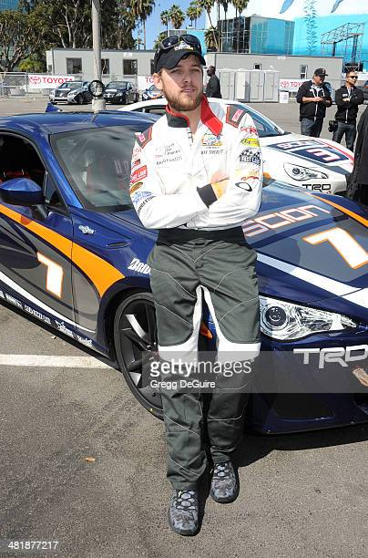 Actor Max Thieriot arrives at press day for the 2014 Toyota Pro/Celebrity Race on April 1 2014 in Long Beach California