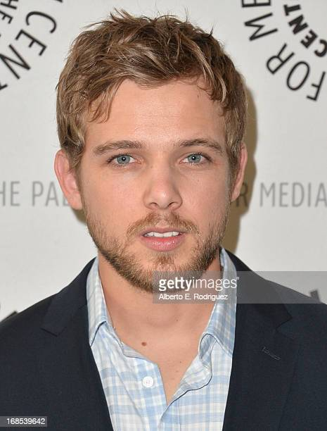 Actor Max Thieriot arrivies to The Paley Center for Media Presents 'Bates Motel Reimagining A Cinema Icon' at The Paley Center for Media on May 10...