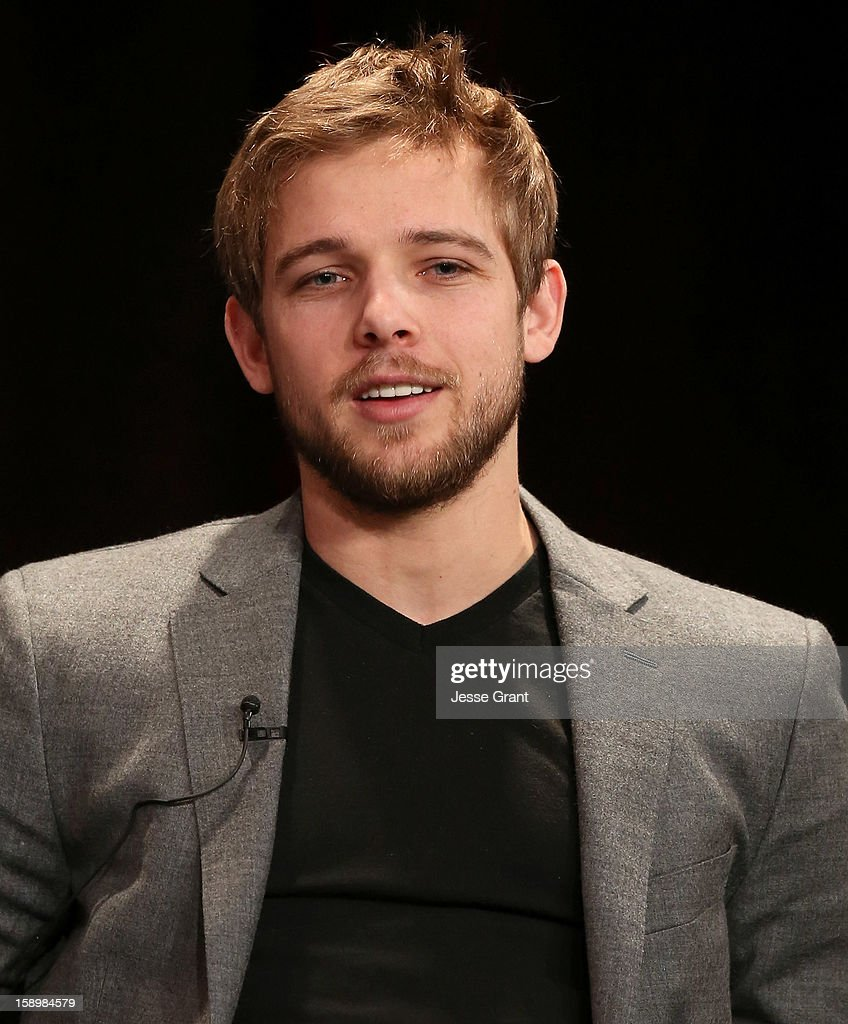 Actor Max Thieriot attends A&E's 'Bates Motel' TCA Panel at the Langham Hotel on January 4, 2013 in Pasadena, California.