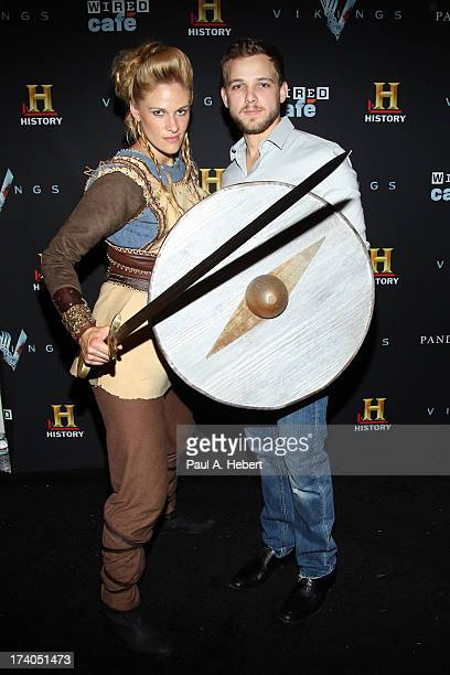 Actor Max Thieriot attends HISTORY's All Hail Vikings Party at WIRED Cafe in the Omni Hotel during ComicCon 2013 on July 19 2013 in San Diego...