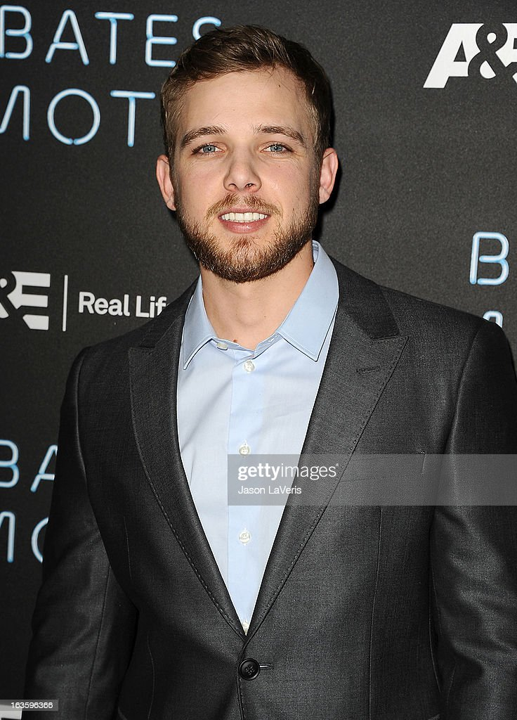 Actor <a gi-track='captionPersonalityLinkClicked' href=/galleries/search?phrase=Max+Thieriot&family=editorial&specificpeople=2545974 ng-click='$event.stopPropagation()'>Max Thieriot</a> attends the premiere of 'Bates Motel' at Soho House on March 12, 2013 in West Hollywood, California.