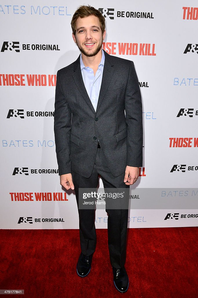 Actor <a gi-track='captionPersonalityLinkClicked' href=/galleries/search?phrase=Max+Thieriot&family=editorial&specificpeople=2545974 ng-click='$event.stopPropagation()'>Max Thieriot</a> attends the premiere party for A&E's Season 2 Of 'Bates Motel' & series premiere of 'Those Who Kill' at Warwick on February 26, 2014 in Hollywood, California.