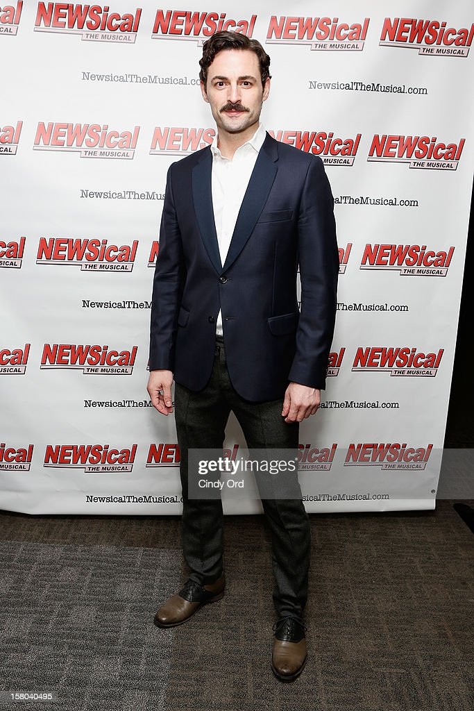 Actor Max von Essen attends Cheri Oteri's debut in 'Newsical The Musical' on December 9, 2012 in New York City.