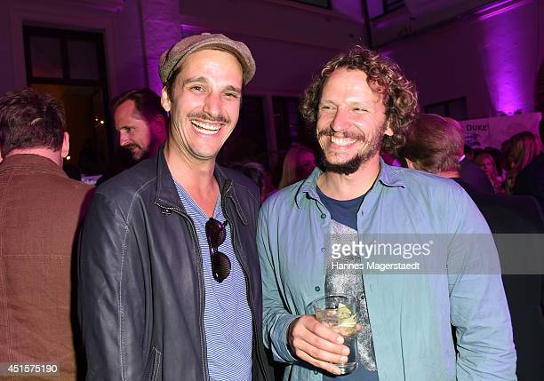 Actor Max von Thun and Marcus H Rosenmueller attend the Bavaria Reception during the Munich Film Festival 2014 on July 1 2014 in Munich Germany